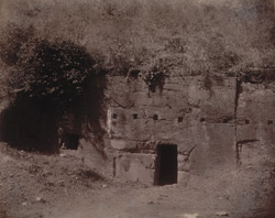 Entrance to the Son Bhandar Cave, Rajgir